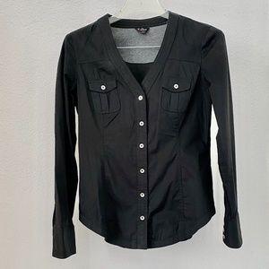Guess Tops - Guess Womens Black Long Sleeve Shirt Blouse S/P